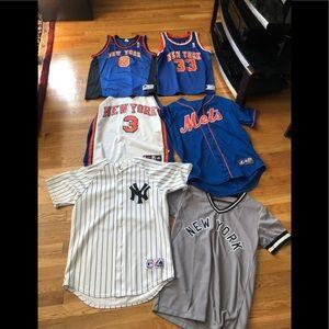 NEW YORK SPORTS JERSEY LOT